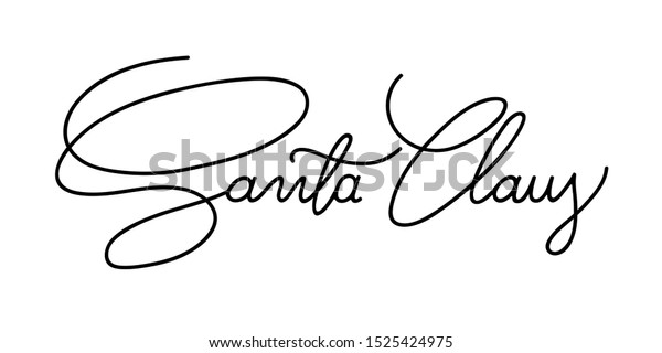 Amazon.com : Santa Claus Signature Style 3 Stamp : Office Products