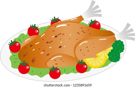 Christmas Smothered Chicken Illustration