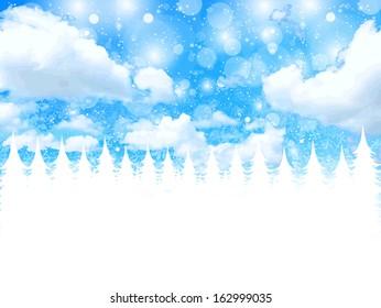 Christmas snow background