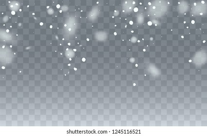 Christmas Snow Flakes Background. Illustration for Winter Holiday Greetings. Glitter White Snow Background. Magic Blizzard Illustration Design.