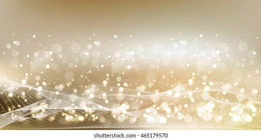Christmas snow light background