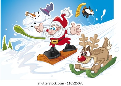 A Christmas snow race