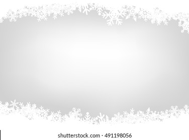 Christmas snow silver