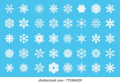 Christmas snow vector icon set