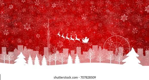 Christmas snow Winter background