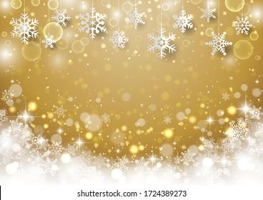 Christmas snowflake glitter beautiful background
