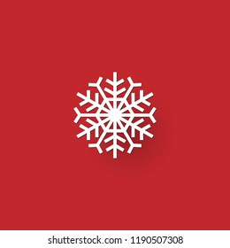Christmas snowflake icon and sign design on red and green background