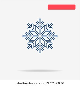 Christmas snowflake icon. Vector concept illustration for design.