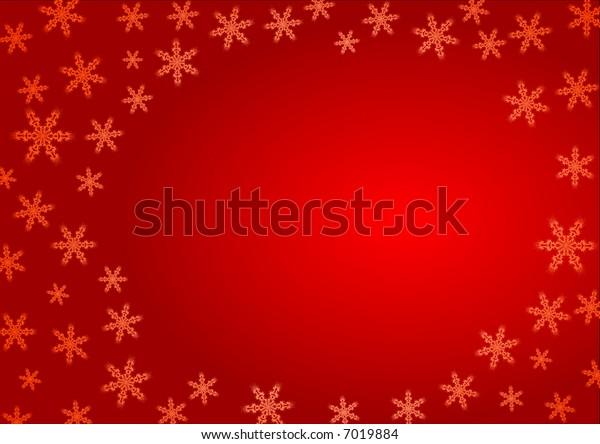 Christmas snowflake postcard- illustration, vector