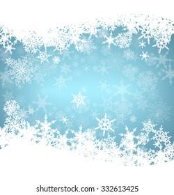 Christmas Snowflakes Card