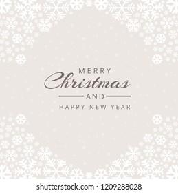 Christmas snowflakes decorative background