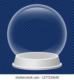 Christmas snowglobe icon. Realistic illustration of christmas snowglobe vector icon for web design