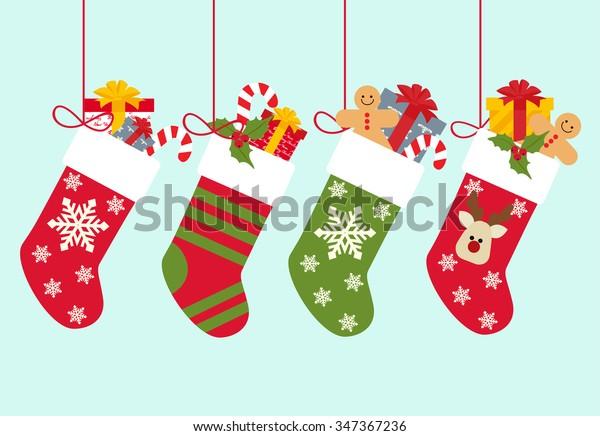 Christmas socks with gifts