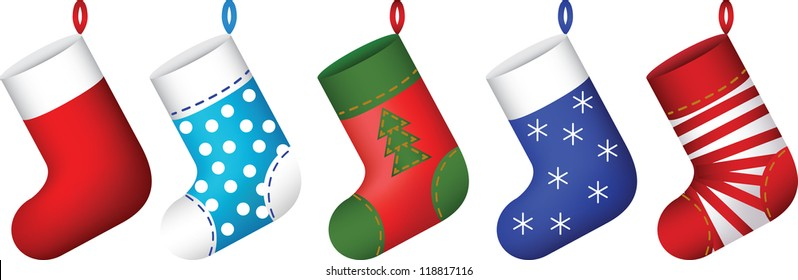 Cartoon Christmas Stocking Images Stock Photos Vectors Shutterstock