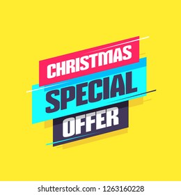 Christmas Special Offer Label