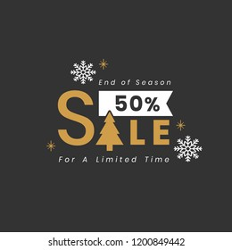 Christmas special sale 50% off vector