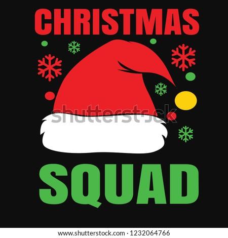 dab704f02 Christmas Squad Design Stock Vector (Royalty Free) 1232064766 ...