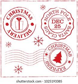 christmas stamp design