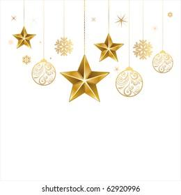 christmas star and decoration ball