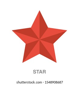 Christmas star flat icon on white transparent background. You can be used Christmas star icon for several purposes.