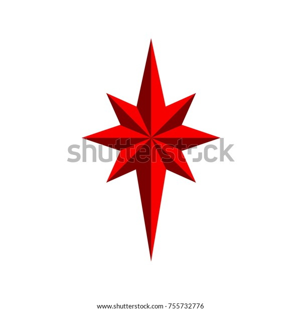 Christmas Star Images Clip Art.Christmas Star Isolated On White Background Stock Vector