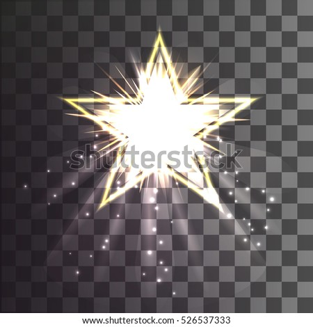 Christmas star on a transparent background
