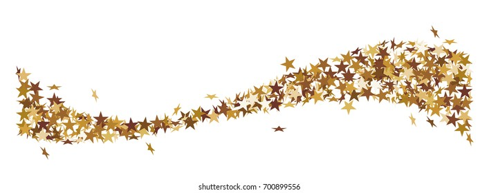 Christmas star tail made of golden stars