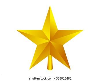 christmas star, vector