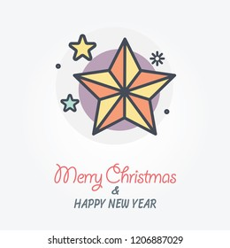 christmas star vector icon