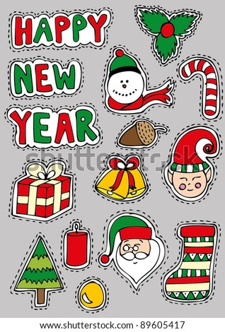 Christmas Sticker Set
