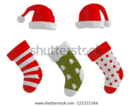 Christmas Stockings and Hats