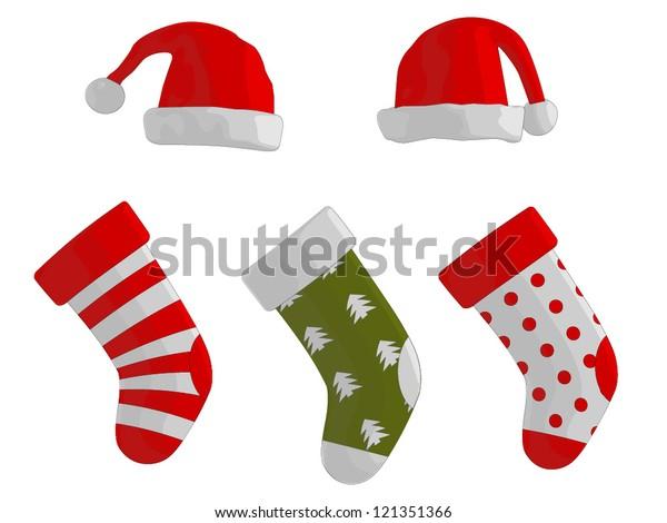 Christmas Stockings and Hats