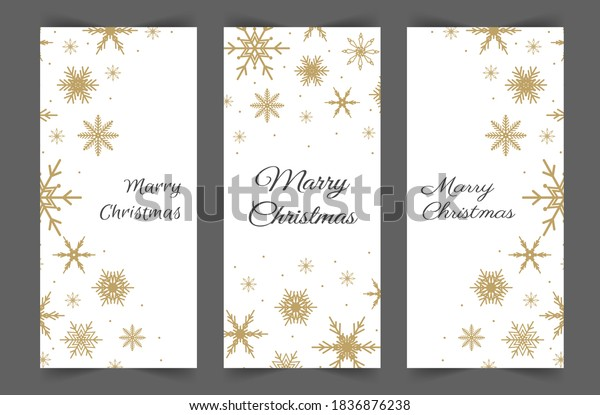 Christmas stories template. Social media vertical backgrounds. New Year design in cute scandinavian style. Christmas design for posts.