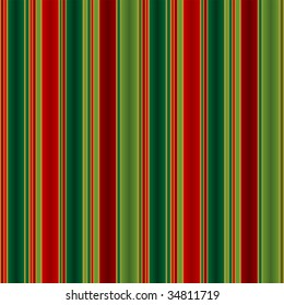 Christmas striped pattern in tones of green red and gold