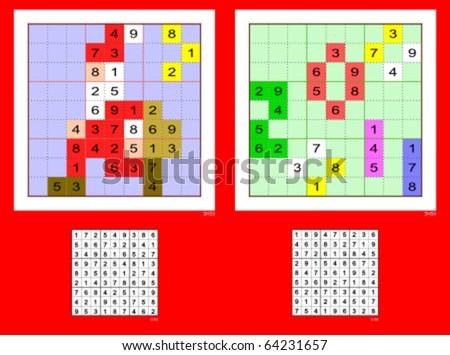 Christmas Sudoku.Christmas Sudoku Santa Claus 2011 Sign Stock Vector Royalty