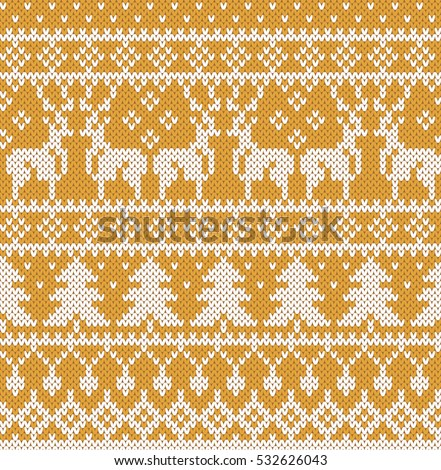52d896061323 Christmas Sweater Design Gold Seamless Knitting Stock Vector ...