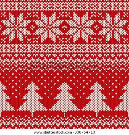 9ccffdd6bdf1 Christmas Sweater Design Seamless Knitted Pattern Stock Vector ...