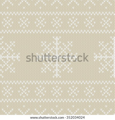 christmas sweater design seamless knitting pattern stock vector