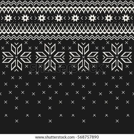 fe56f4893 Christmas Sweater Design Seamless Knitting Pattern Stock Vector ...