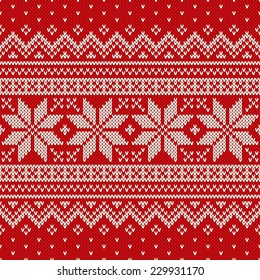 Christmas Sweater Design. Seamless Pattern