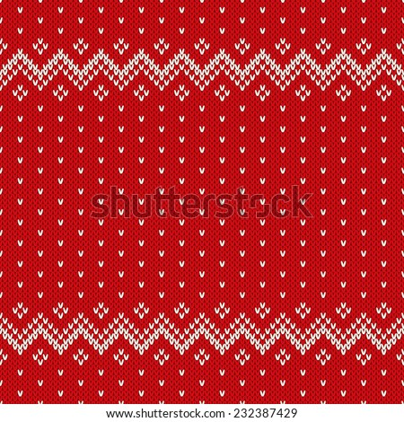 06c13dbae Christmas Sweater Design Seamless Pattern Stock Vector (Royalty Free ...