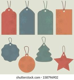 Christmas tags. Vector set, EPS 8.