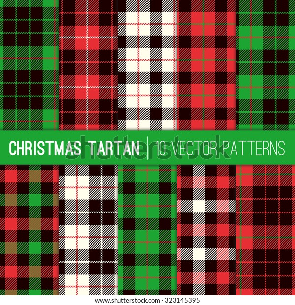 Christmas Plaid.Christmas Tartan Plaid Patterns Red Green Stock Vector