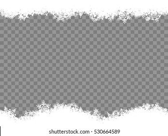 Christmas template Snowflakes border. EPS 10 vector file included
