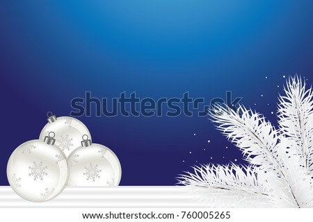 Christmas Theme Background Blue White Color Stock Vector Royalty