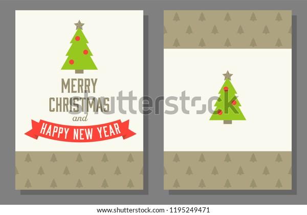 Christmas Theme Poster Invitation Card Templateflat Stock Vector ...