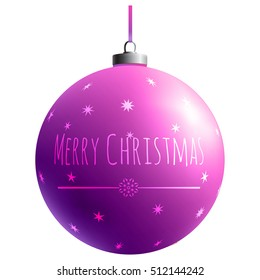 Christmas Toy. Xmas element. Holiday decoration. Colorful glass ball. Color decorative object. Bright gradient effect. Isolated sphere.