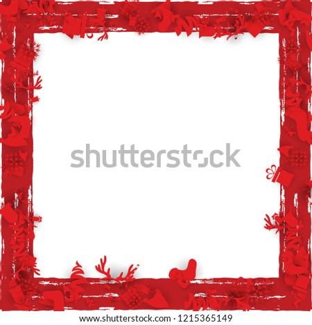 Christmas Toys Border Stock Vector Royalty Free 1215365149