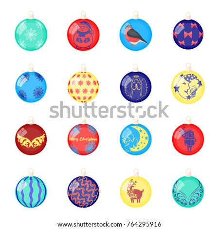 christmas toys cartoon icons in set collection for designnew year ballsvector symbol stock web - Sign Up For Free Christmas Toys