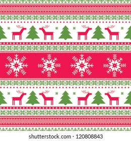 Christmas traditional ornamental knitted pattern